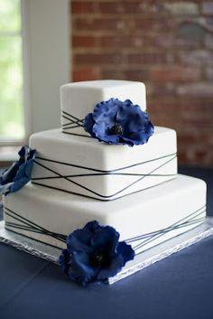 Our wedding cake: Sweet Art Wedding Cakes, Lincoln, NE :  wedding black cake elegant flowers gumpaste purple reception silver simple white Sbm421