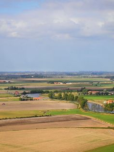 Flanders Fields and the Yser River, Belgium.