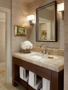 Contemporary Bathroom Powder Room Design, Pictures, Remodel, Decor and Ideas - page 15