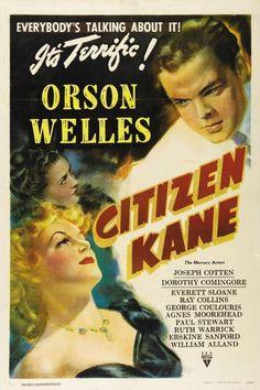 Ciudadano Kane (1941) del mítico director Orson Welles. Película de culto.