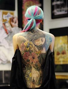 Awesome back tattoo. #tattoo #tattoos #ink