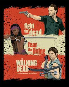 Fight the dead, fear the living. Walker Stalker, Dead Inside, Fear The Walking Dead, Best Shows Ever, Book Series, Comic Books, Humor, Cartoon Art, Badass