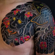 Clean and Stunning Japanese Tattoos by Haewall