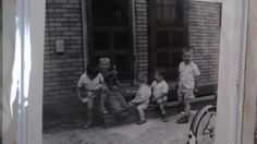 My brothers and some other neighborhood kids at the Willow Run Village, taken in the early to mid 1950's