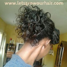 """Lets Grow Our Hair!: An Accidental """"Wet look"""" from not-so-dry Bantu knots..."""