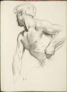 """John Singer Sargent (1856-1925), """"Study for Angel at Far Left, 'Israel and the Law,'"""