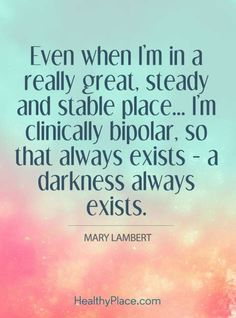 These bipolar quotes focus on mania, depression and other bipolar disorder related issues. Want some idea of what it's like living with bipolar disorder? Bipolar Disorder Quotes, Bipolar Quotes, Living With Bipolar Disorder, Anxiety Disorder, Odd Disorder, Bipolar Funny, Bipolar Help, Quotes Quotes, Bipolar Awareness