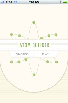 Atom-Builder App- This app reinforces the skills of counting protons, neutrons, and electrons in an atom.