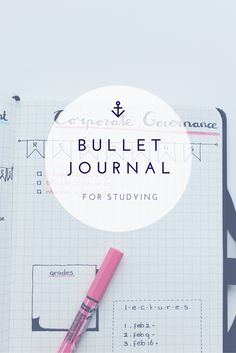Bullet Journal inspiration for Studying or project management.
