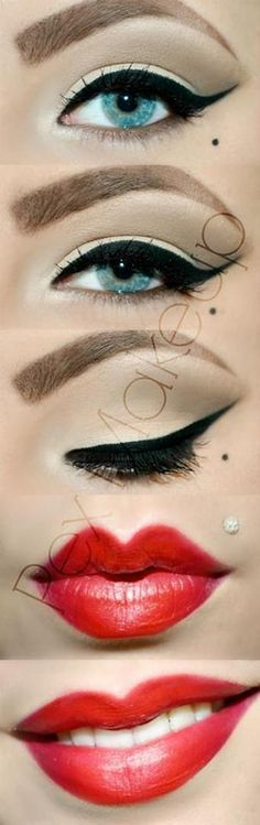 Pin Up look (i love the lip shape!)