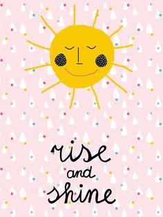 Print @ninainvorm RISE AND SHINE Seen on HappyMakersBlog.com #hetpapieratelier