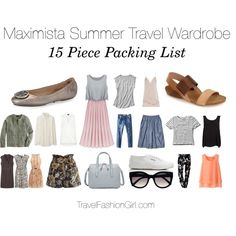 Sample 15 piece packing list and capsule wardrobe set for travel in the summer - read the full packing guide!