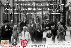 ZET 1 OKTOBER 2016 VAST IN JE AGENDA We vieren ons 30-jarige jubileum met wijnproeverij, hapjes en modeflitsen!  Photo - Feest in onze straat Burgermeesterstraat 1923  #Scooter #Enschede #Haverstraatpassage #Enschede  Zaterdag geopend 10:00 - 18:00 uur  Met medewerking van:  www.broodbode.nl www.henribloem.nl www.goods4home.nl www.haverstraatpassage.nl