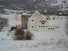 Christmas time in Park City, Utah. This barn makes me smile every time I drive by it!