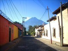 Agua Volcano Guatemala Centro America.