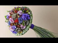Flower arrangement Sweet Rosa Avalanche how to arrange tutorial - YouTube