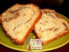 Μυρωδάτο Γεμιστό Κέικ  Ένα κέικ λίγο διαφορετικό και πολύ νόστιμο, περιέχει γέμιση με άρωμα κανέλας σε στρώσεις! Cheesecake Brownies, Sweet Recipes, Banana Bread, Caramel, French Toast, Sweets, Breakfast, Desserts, Cakes