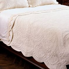 So beautiful and elegant Timeless quilt - traditional - quilts - other metro - Ethan Allen Home Bedroom, Bedroom Decor, Bedrooms, Bedding Decor, Master Bedroom, White Quilt Bedding, Bedding Sets, White Coverlet, Cream Bedding