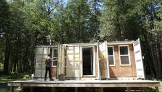 Young Entrepreneur Living Off-Grid in a Self-Built Shipping Container Home - Video Tour