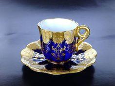 Coalport, Teacup and Saucer 1891 - 1920 (Kazumi Murakami Collection) Fine Porcelain, Porcelain Ceramics, Tea Container, Cafetiere, China Tea Cups, Tea Service, Coffee Set, Tea Bowls, China Dinnerware