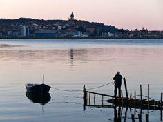 bahía de txingudi en hondarribia en el país vasco