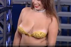 I believe this is a stuck on bra - an effect that was quite distracting from the dance but at least she seemed happy with it!