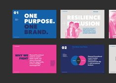 The creative team at Planned Parenthood reached out to us for help in creating a new brand book that was part manifesto, part style guide. Presentation Deck, Brand Presentation, Brand Guidelines Design, Brand Identity Design, Identity Branding, Brand Design, Visual Identity, Web Design, Graphic Design
