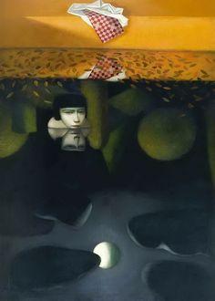 Vladimir Dunjic...The lower sky, 1996. oil - acrylic on canvas, 180 x 130 cm