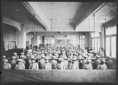 Tobacco Workers inside the Yenidze cigarette factory (1907-1909 CE) Dresden