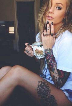 Womens Arm and Leg Tattoos!