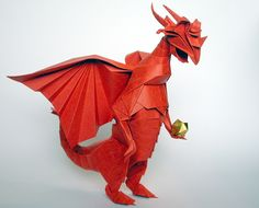 "This is what I get for googling ""origami dragon."" Um...?"