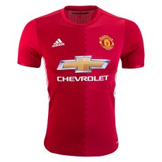 adidas Men's Manchester United Authentic Home Jersey Real Red/Power Red/White Manchester United, Soccer Gifts, Soccer Shop, Adidas Men, Classic Style, The Unit, Shirts, Shopping, Soccer Jerseys