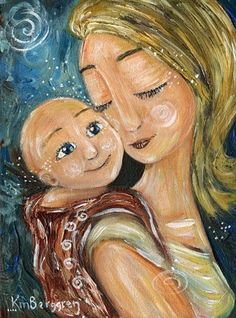 mother and child art - moments of motherhood captured in paint on canvas. Original art for sale, featuring mother and son, mother and daughter, family portraits and emotion. Mother Art, Mother And Child, Mother Daughters, Original Art For Sale, Mom And Baby, Baby Wearing, House Painting, Family Portraits, Art Images
