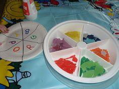 Paper Plate Colour Wheel
