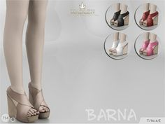 Sims 4 CC's - The Best: Madlen Barna Shoes by MJ95