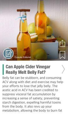 Can Apple Cider Vinegar Really Melt Belly Fat? - via @CureJoy