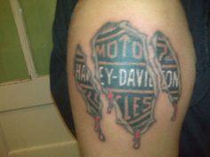 Torn Harley Tattoo