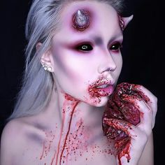 Bad ass @typical_white_girl_sfx  __________________________________ Sharing all halloween makeup|SFX| Favorite creepy stuff my own work | Others credit will be given to rightful owners Please let me know if you would like your work taken down . . . . . #makeup #makeupartist #hudabeauty #vegas_nay #wakeupandmakeup #amrezy #morphebrushes  #anastasiabeverlyhills #katvondbeauty #peachyqueenblog #ourfazinali #katvondbeauty #brian_champagne #undiscovered_muas #makeupart #halloween #halloweenmakeup…