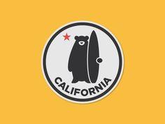 California Bear designed by Omar Garcia. Connect with them on Dribbble; Bear Design, Badge Design, Logo Inspiration, California Logo, D Mark, Badge Logo, Circle Logos, Bear Logo, Clothing Logo