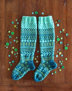 These colors! 😍 Socks were finished weeks ago, but now they are pretty . Wool Socks, Knitting Socks, Colorful Socks, Designer Socks, Knee High Socks, Then And Now, Handicraft, Mittens, Slippers