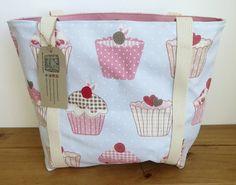 Cupcake shoulder canvas bag Fabric long handled handbag Gift