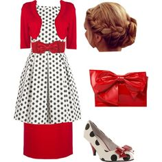 With a solid Color heel instead and remove the red skirt
