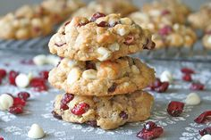Oatmeal, Cranberry, Banana Cookies.  I did all cranberries, added chopped pecans and omitted the chips.  (used butter instead of coconut oil).  Wonderful, 2 thumbs up from the kiddos as well!