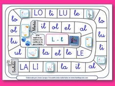 Board for Juego de la oca - Easy game with boards for letters, syllables, and full words Bilingual Classroom, Bilingual Education, Classroom Language, Kids Education, Spanish Activities, Teaching Spanish, Reading Activities, Articulation Activities, Speech Therapy Activities