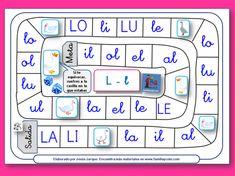 Juegos de la Oca para aprender a leer, vocales, sílabas y palabras