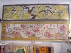 Pannelli dipinti a  mano in tecnica batik www.ilgiardinodellacerorosso.com