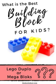 Have you ever wondered what the difference is between Mega Bloks & Lego Duplo bricks? Which one is better? Read this comparison of Mega Bloks Vs Lego Duplo. Educational Activities For Kids, Indoor Activities For Kids, Preschool Activities, Difficult Children, Kids Blocks, Toddler Behavior, Lego For Kids, Homeschool Kindergarten, Learning The Alphabet