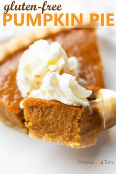 An EASY, holiday favorite made gluten and dairy-free. Thanksgiving isn't complete without it! Classic pumpkin pie made gluten and dairy-free! Best Gluten Free Recipes, Gluten Free Sweets, Gluten Free Baking, Gf Recipes, Indian Recipes, Easy Recipes, Gluten Free Pie Crust, Dairy Free Pumpkin Pie, Pumpkin Pie Recipes
