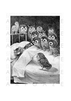 Stunning Louis Wain Cat Illustration Cats Nightmare par Artgaze