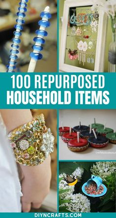 Repurpose and Reuse Broken Household Items with this list of 100 incredible ideas!  There are tons of great ways to make junk into treasure here! These upcycled craft ideas are incredible!  You'll love the fun ways to repurpose broken items and turn them into home decor! #Upcycled #Repurposed #Recycled #Crafts #EasyCrafts Recycled Garden Crafts, Recycled Bottle Crafts, Recycled Art Projects, Recycled Gifts, Upcycled Crafts, Easy Diy Crafts, Diy Home Crafts, Diy Craft Projects, Diy Crafts For Kids
